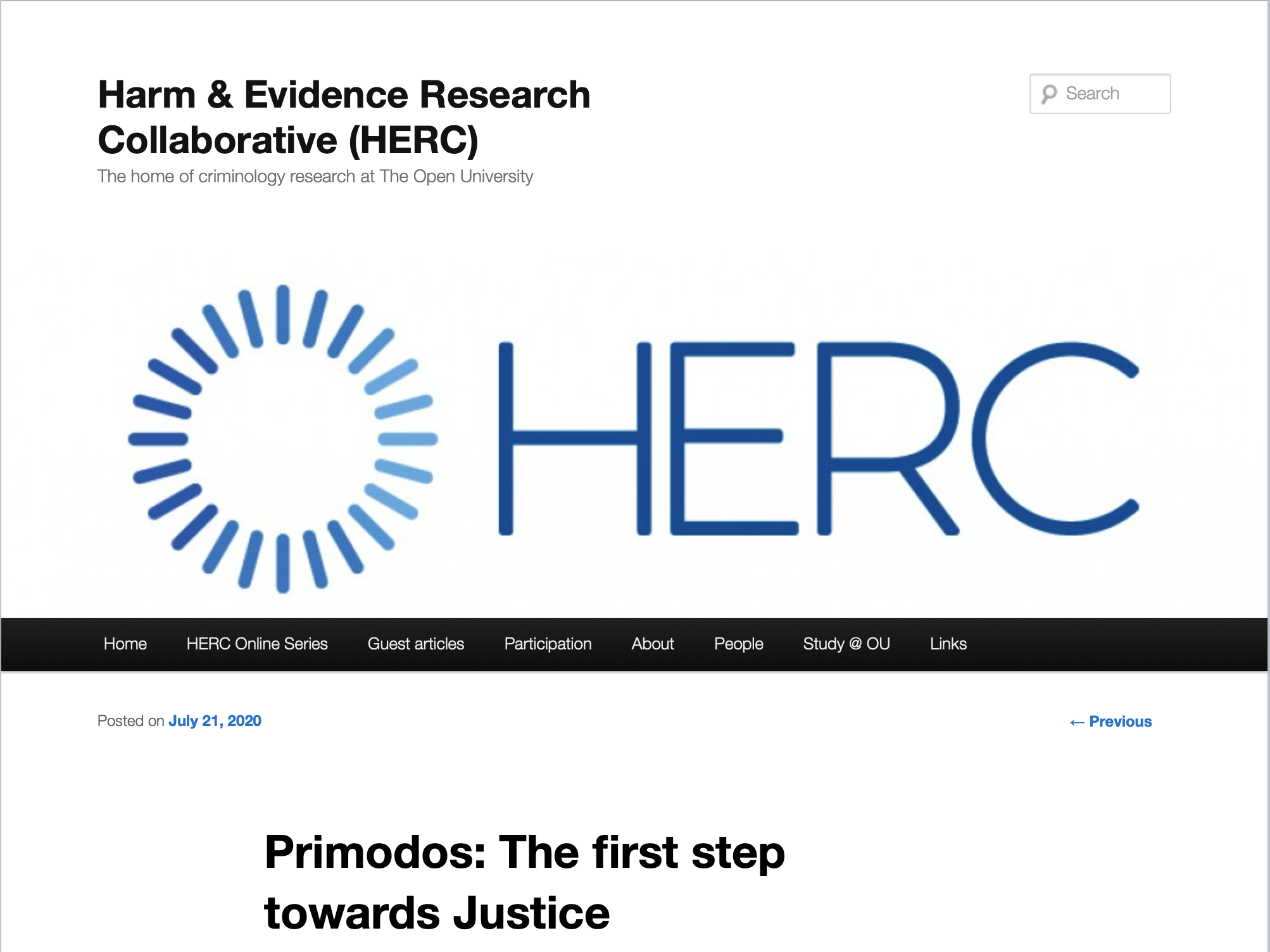 Primodos: The first step towards Justice