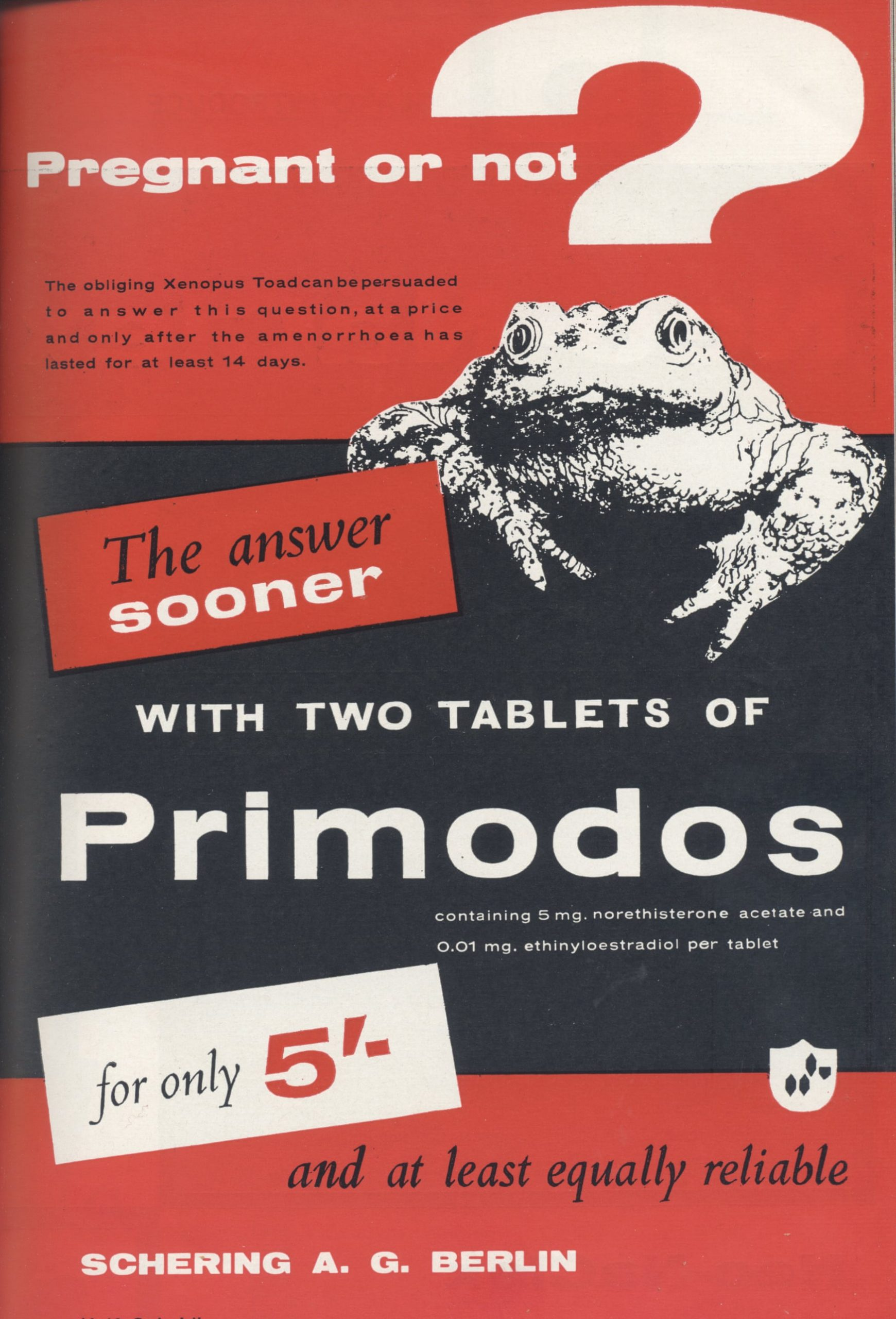 A historical argument for regulatory failure in the case of Primodos and other hormone pregnancy tests