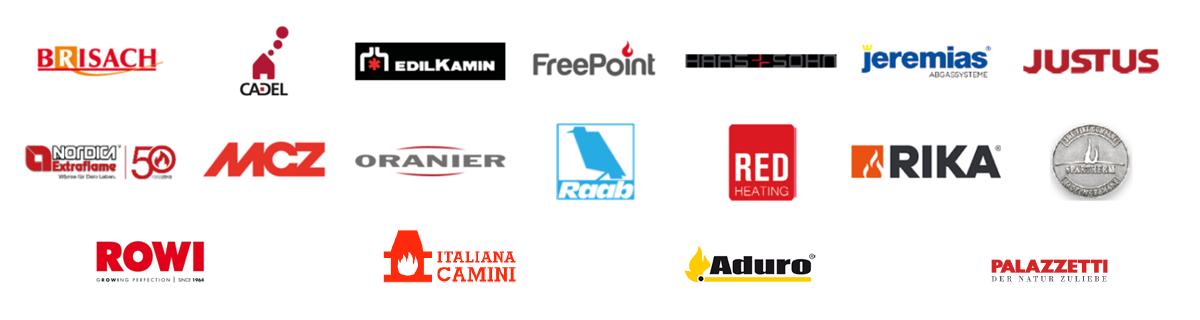 Pelletofen Hersteller Logos