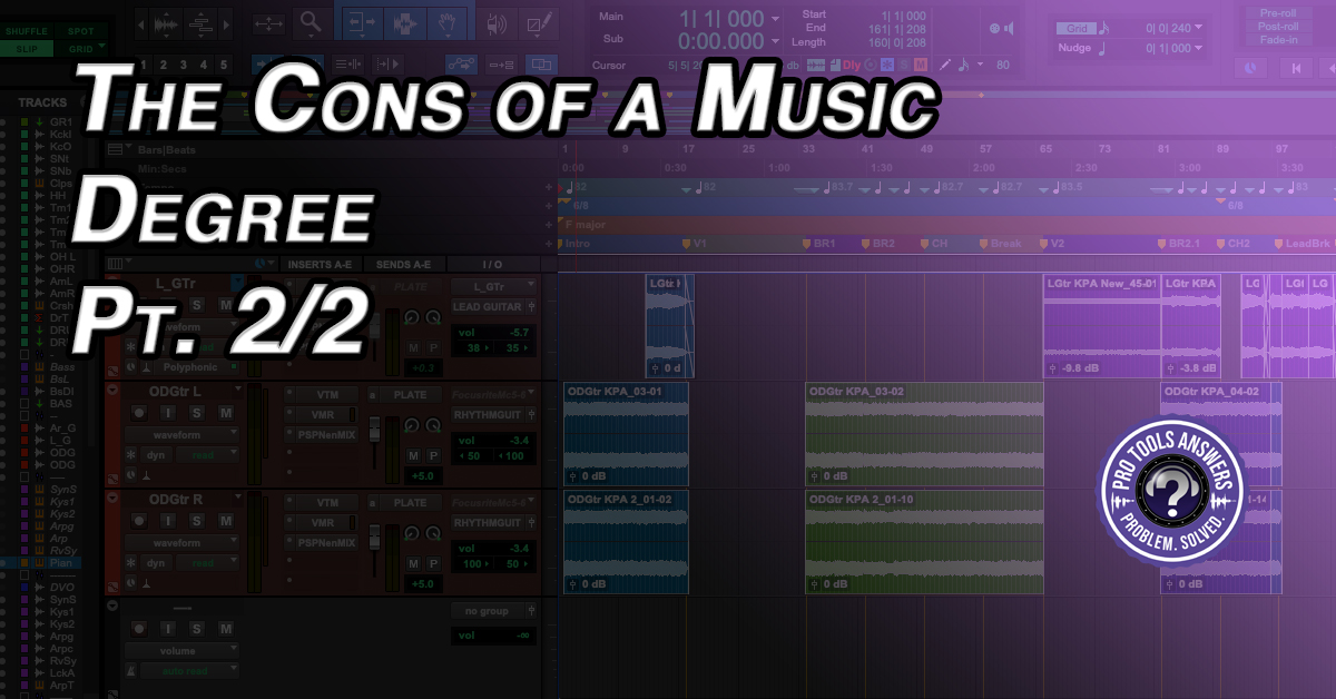 Is a Degree in Audio Engineering worth it? The Cons of a Degree.