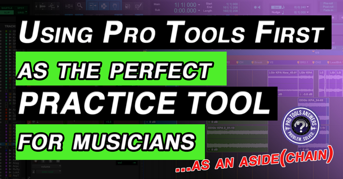 Pro Tools First makes the PERFECT practice tool for musicians
