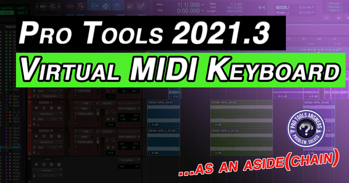 Pro Tools Virtual MIDI Keyboard is here