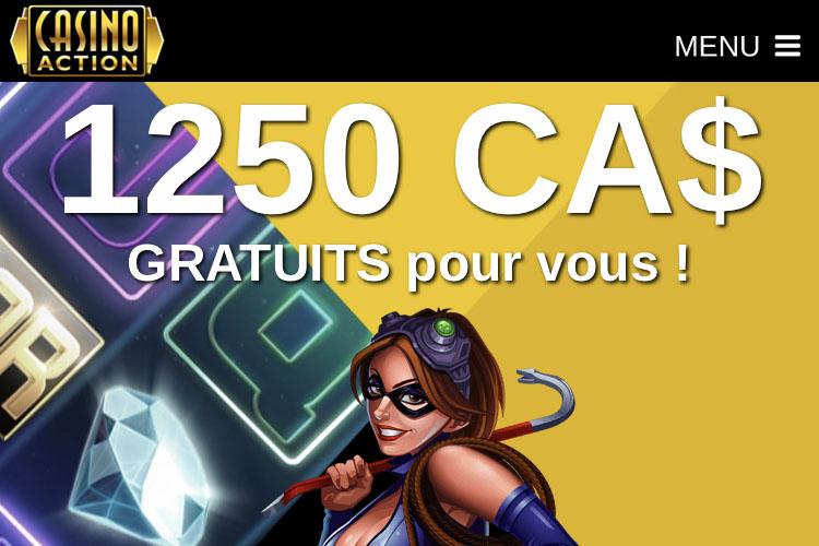 Casino Action est apprécié par les joueurs de Montréal (Québec)