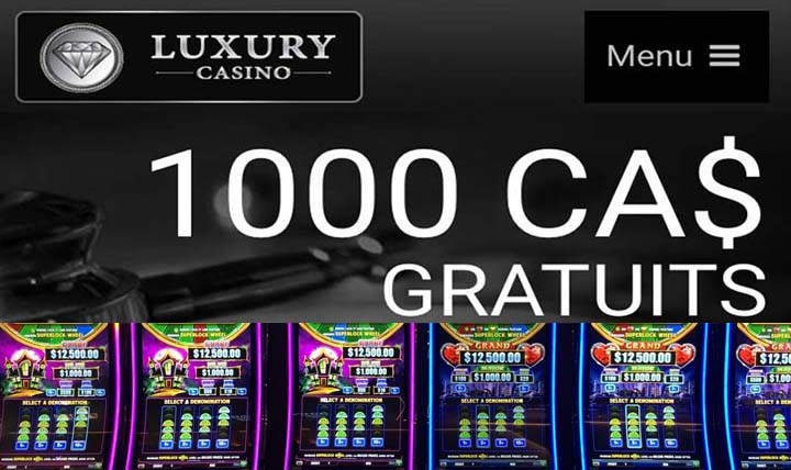 Meilleur site de slot machines avec Luxury Casino