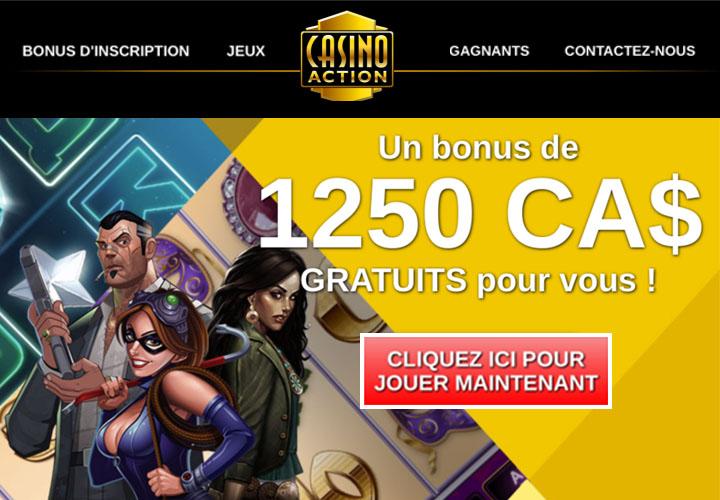 Casino Action est primé Meilleur Casino en Ligne au Canada