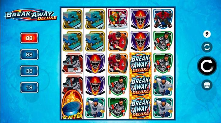 Break Away Deluxe - la slot machine des paris en ligne