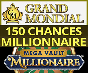 150 Tours chez Grand Mondial casino