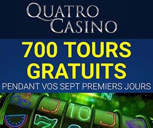 700 tours chez Quatro Casino en 2021