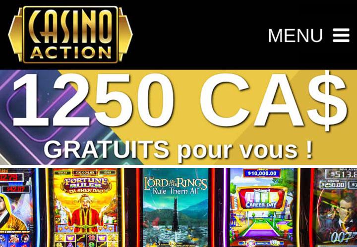 Le site Casino Action et ses machines à sous rentables