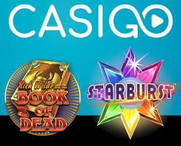 Le site CasiGO - bonus Starburst gratuit