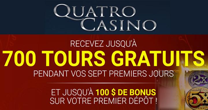 Quatro Casino et 700 tours gratuits