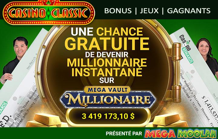 Tout gratuit chez Casino Classic