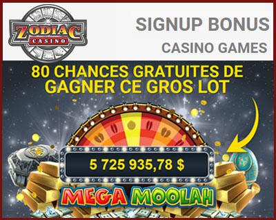 Zodiac Casino jeux de machines à sous