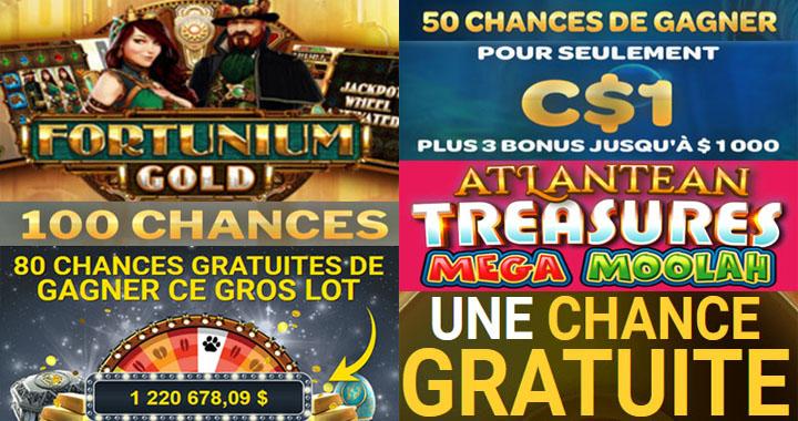 Mega Moolah casino tours gratuits sur 1$ dollar de dépôt