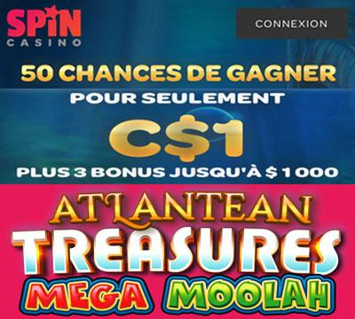 Spin Casino Atlantean Treasures