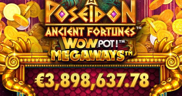 WowPot gagnant sur la machine à sous Poseidon Ancien Fortunes