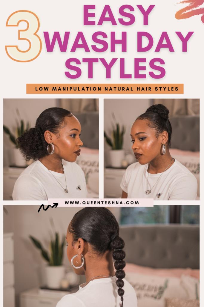 wash day natural hairstyles