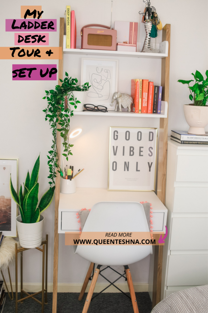 ladder desk tour & organisation tips for small spaces