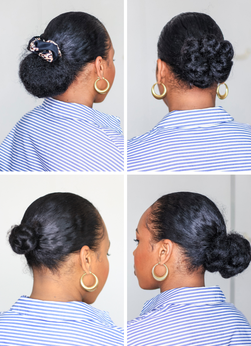 6 Ways to Switch Up Your Low Bun On Fine Natural Hair