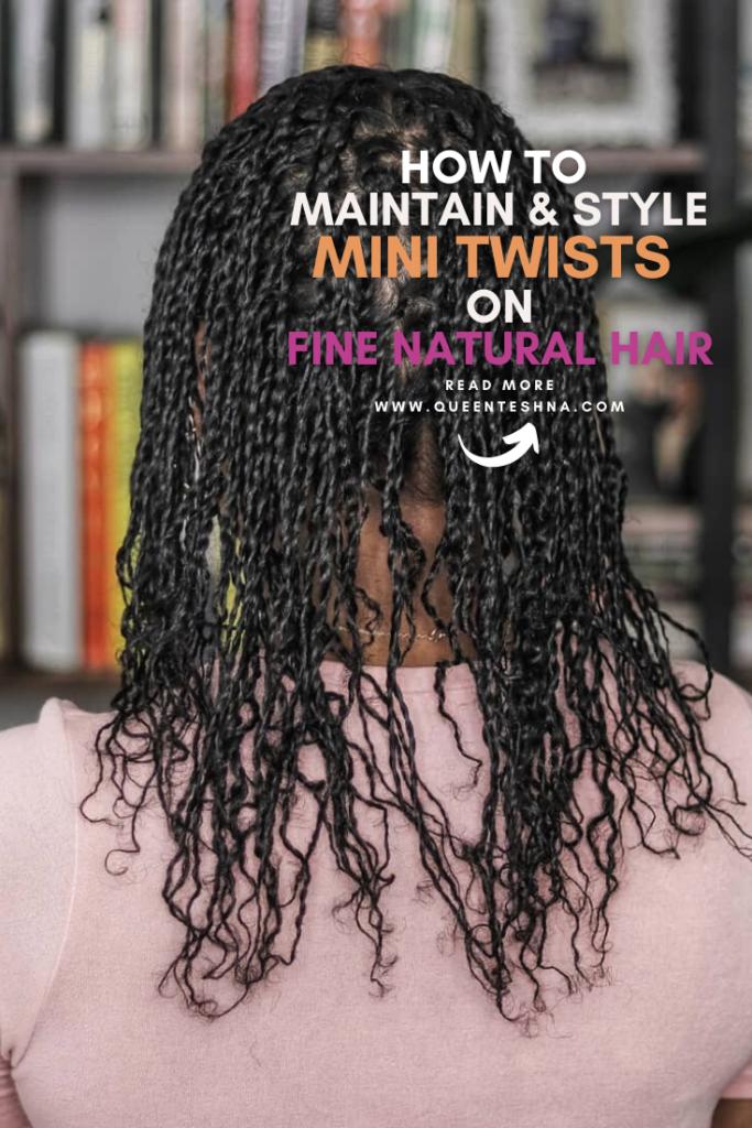mini twists on fine natural hair