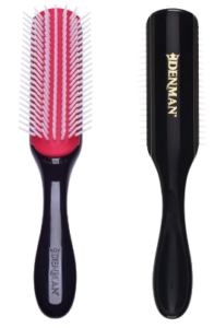 Denman brush for natural curly hair