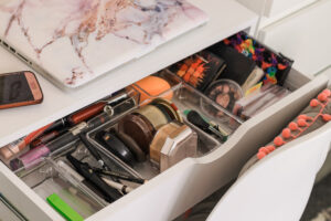 acrylic organisers for your vanity desk