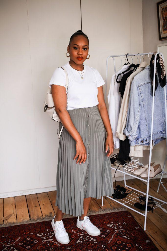 6 ways to style pleated midi skirt