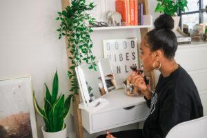 ladder desk vanity tour & set up