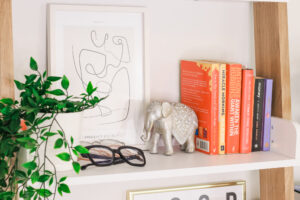 how to decorate your ladder desk shelf