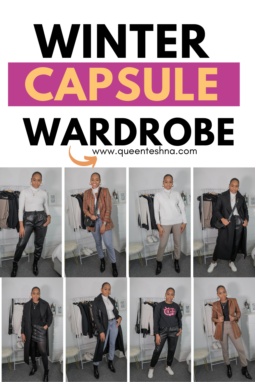 Winter Capsule wardrobe – 15 items over 30 outfits