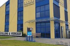 Vorderseite der Ladestation an der Schaumanufaktur in Ribnitz-Damgarten