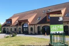 Vorderseite der Ladestation Heuferienhof Altkamp