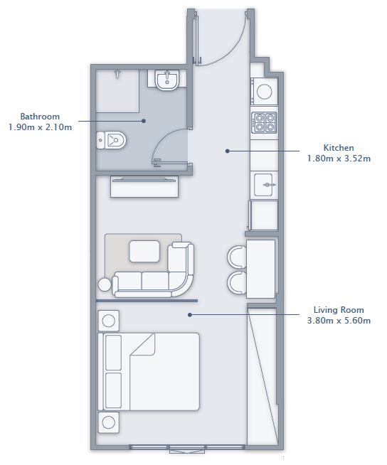 Studio Apartment Type 1
