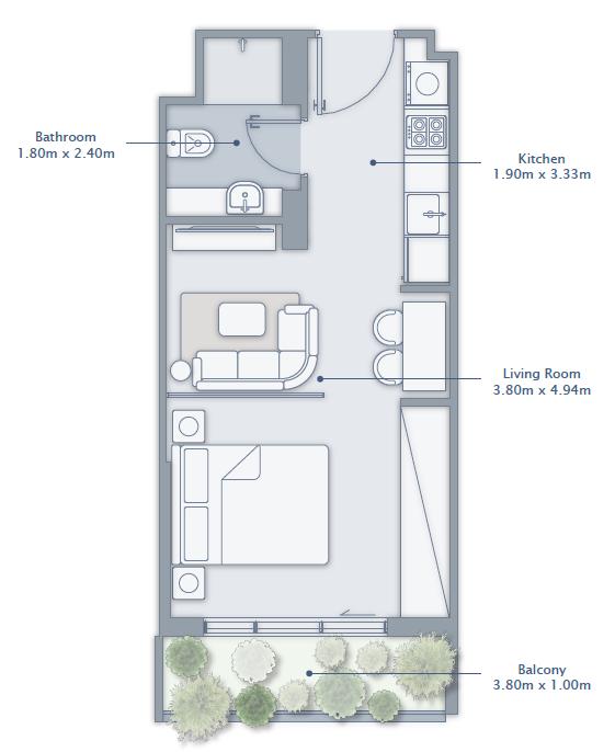 Studio Apartment Type 2