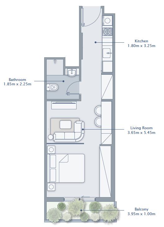 Studio Apartment Type 3