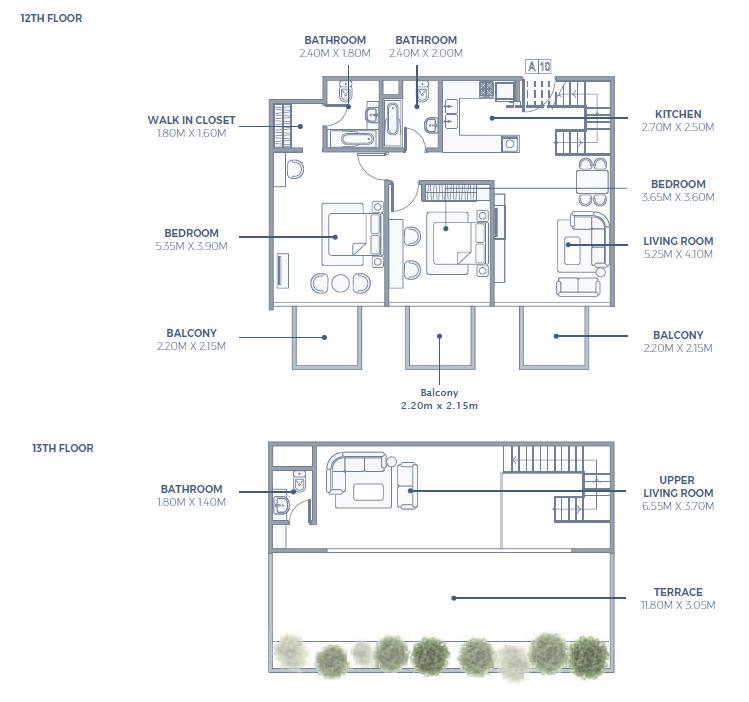 2 Bedroom Sky Villa Apartment