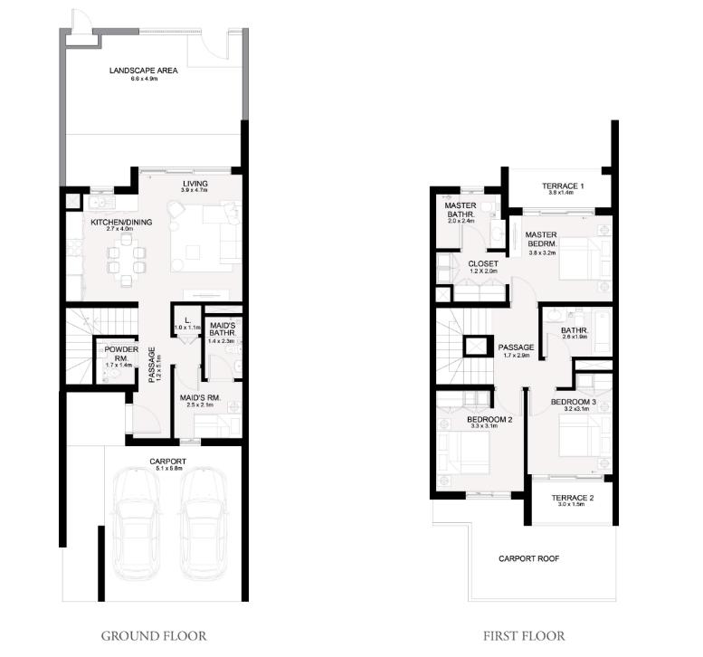 3 Bedroom + Maids Room