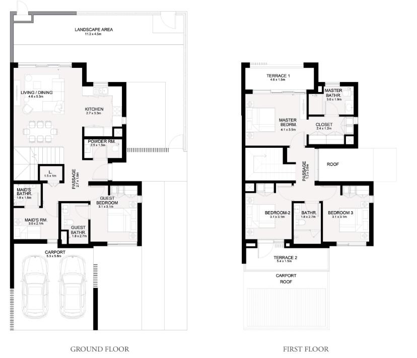 4 Bedroom + Maids Room