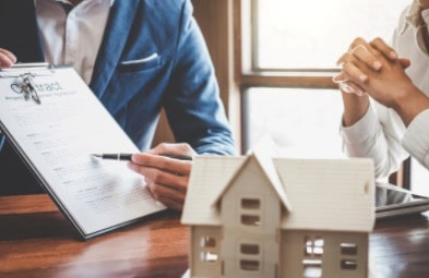 real estate agent with contract