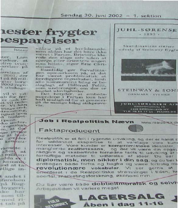 job-add in newspaper