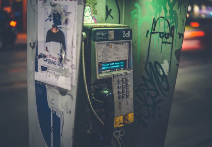 """""""I'm in the phone booth, it's the one across the hall … If you don't answer, I'll just ring it off the wall."""""""