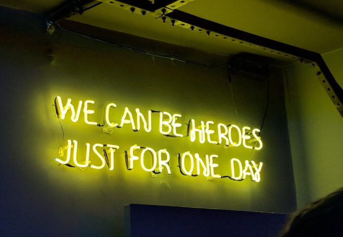 We could be heroes … Just for one day