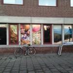 Printad fönster dekor