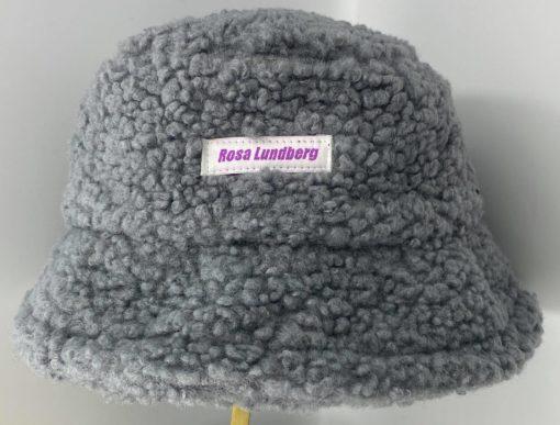 Krølle bøllehat grå