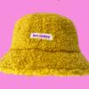 Krølle bøllehat gul