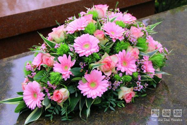 nr12 druppel arrangement roze tinten