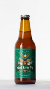 west river ipa beer bottle