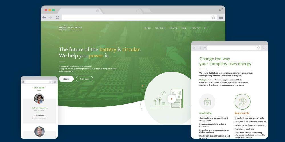 Watt4ever Website Mockup 1