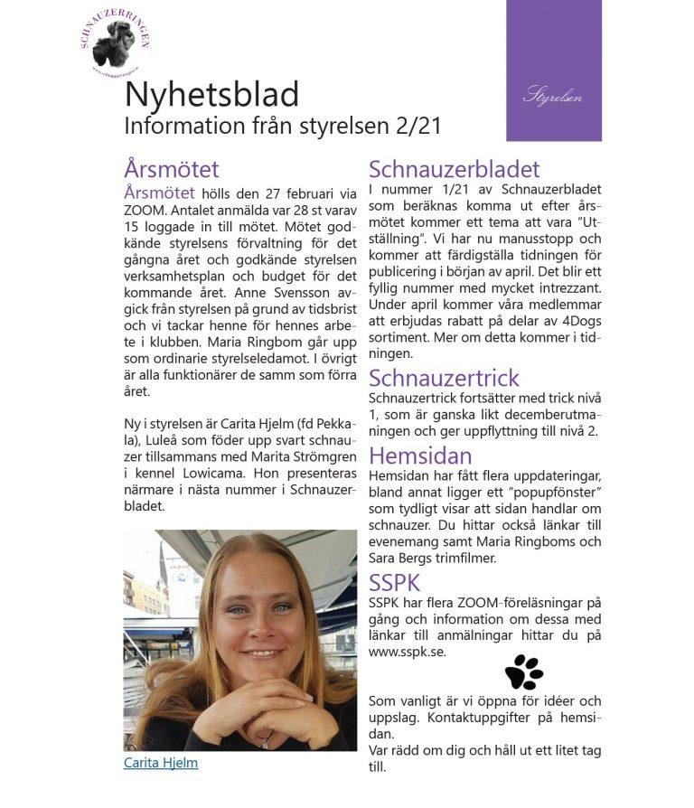 Nyhetsblad nr 2