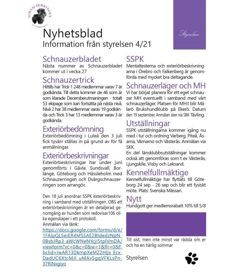 Nyhetsblad nr 4